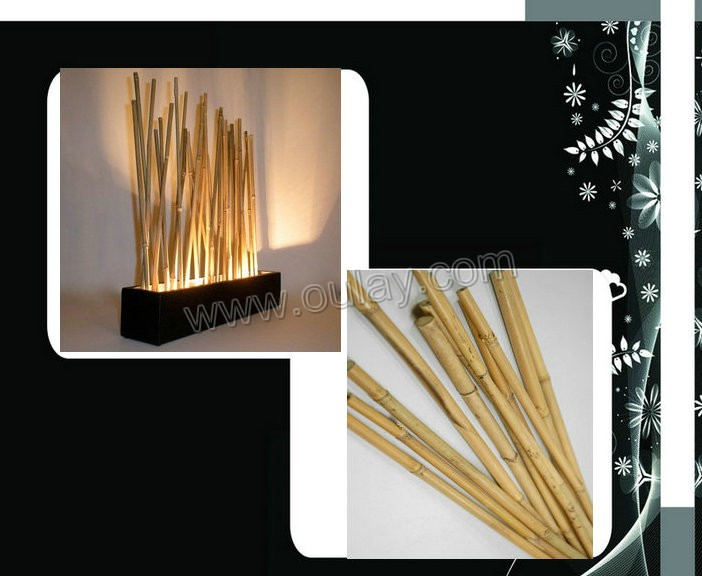 beautiful raw bamboo poles for decoration