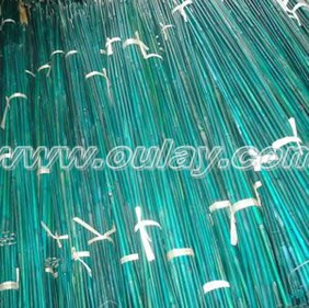 Green dyed bamboo