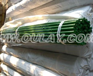 Green plastic coated bamboo