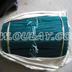 Green dyed bamboo sticks