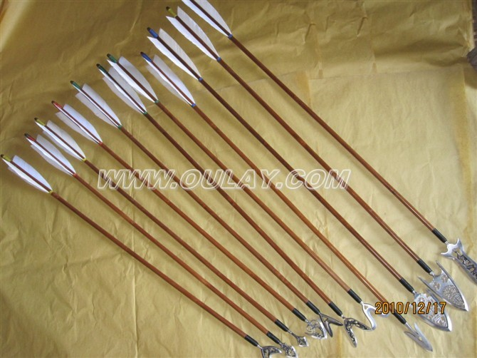 Bamboo arrows various heads