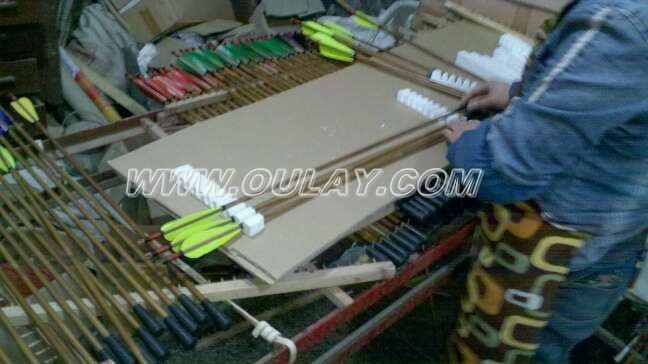 Arrows in packing process