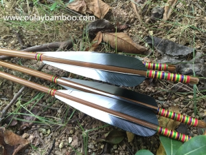 Black And White Turkey Fletched Arrows Rainbow Arrows