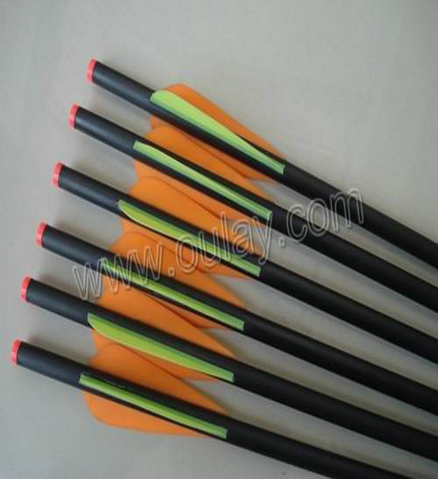 carbon arrows with rubber feathers