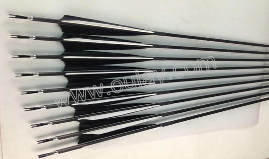 6.2mm carbon arrows with 4 inch real turkey feathers