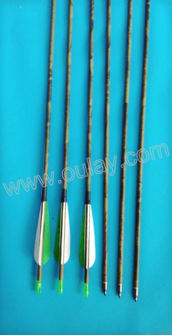 colorful carbon arrows for 55~70 lbs bow