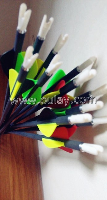 plastic vanes carbon hunting arrows