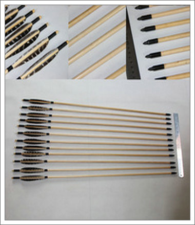White tree material of wood arrows
