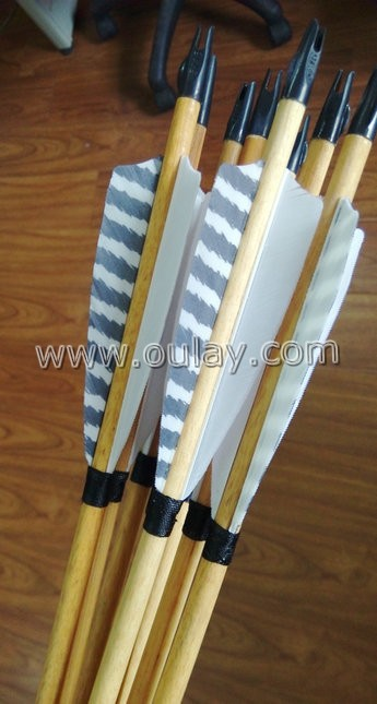 wood arrows with plastic nocks