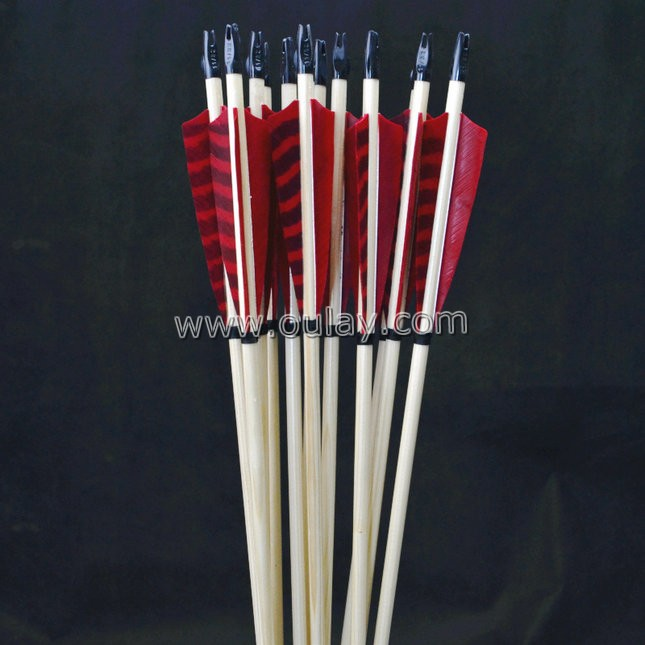 wooden bamboo hunting arrows