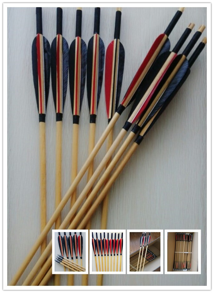 wooden arrows for traditional bows