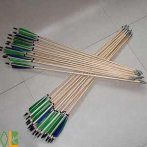 green turkey feathers wood arrows