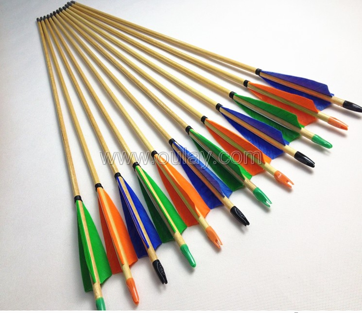 colorful wooden arrows