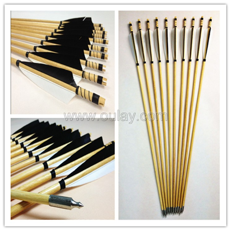 black and white fletchings arrows