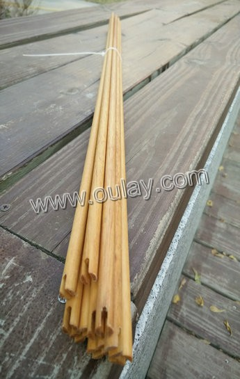 Wooden arrow shafting