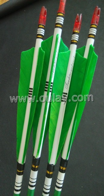 green cresting arrows