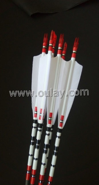 beautiful pure carbon archery huting arrows