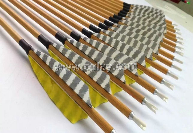 wooden pattern carbon arrows