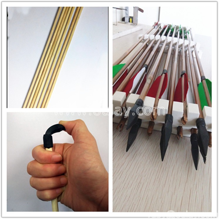 bamboo arrows with rubber points