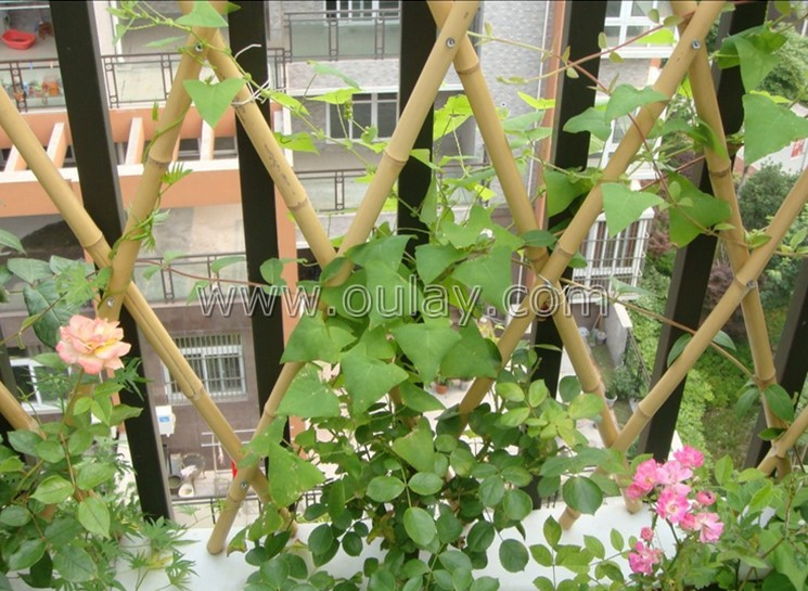 indoor bamboo flower trellis for decoration