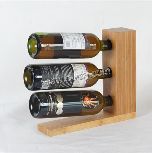 high pressured and spliced nature bamboo wine bottle holders