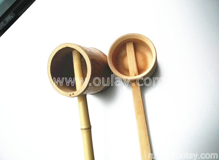 bamboo ladles with rest