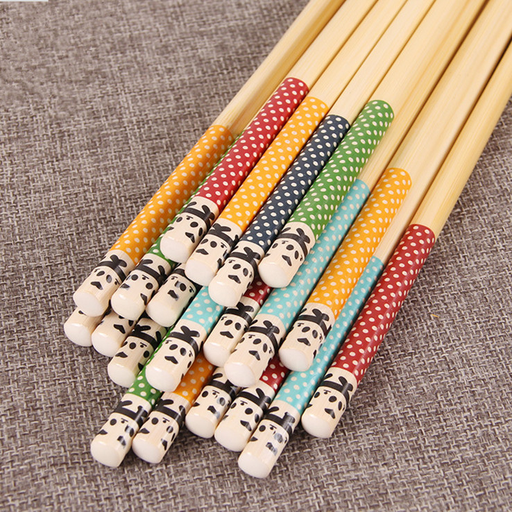 Cartoon Bamboo Children Chopsticks for Family or Restaurant