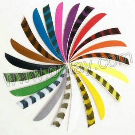 Conical & striped real turkey feathers/arrow vanes