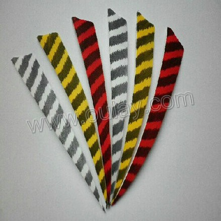 Striped real turkey feather