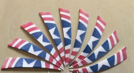 Country Flags Arrow Turkey wing Feathers For DIY Arrows