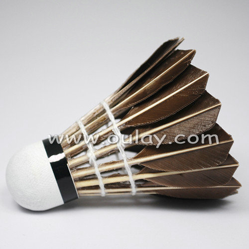 Goose feather for badminton