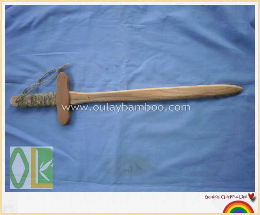 Custom children toy handmade wooden swords for children